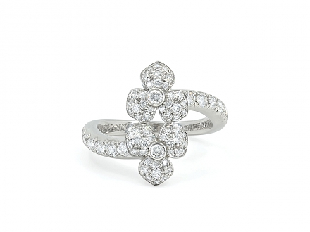 Tiffany 'Petal' Diamond Flower Ring in Platinum