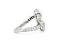 Tiffany 'Petal' Diamond Flower Ring in Platinum