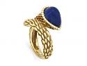 Boucheron 'Serpent Bohème' Lapis Ring in 18K Gold