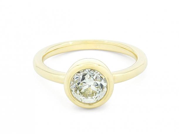 Beladora 'Bespoke' Bezel-set Old European-cut Diamond Ring, 1.20 carats, in 18K Gold
