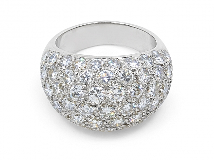 Boucheron Diamond Ring in Platinum