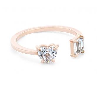 Beladora 'Bespoke' Open Band Diamond Ring, 0.73 total carats, in 18K Rose Gold