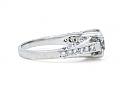 Diamond Ring, 1.31 carat F/ SI-1, in Platinum