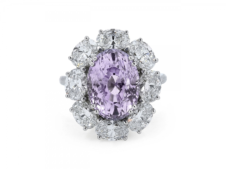 Video of Tiffany & Co. Oval Purple Sapphire, 8.80 carat, and Diamond Ring in Platinum