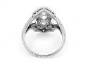 Art Deco Three-Stone Diamond Ring in Platinum