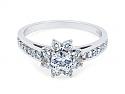 Tiffany & Co. Diamond Flower Ring in Platinum
