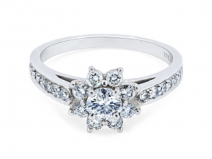 Tiffany & Co. Diamond Flower Ring in Platinum