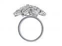 Floral Diamond Cluster Ring in 18K White Gold
