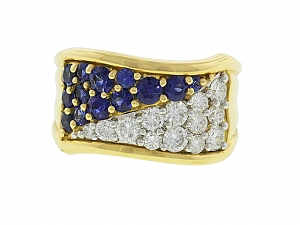 Mark Patterson Sapphire and Diamond Ring in 18K