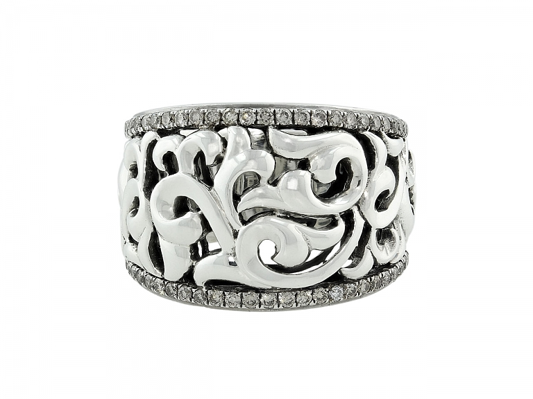 Video of Charles Krypell Diamond Ring in Silver