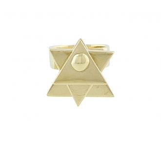 Spinning Modernist Ring in 18K Gold