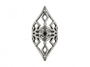 Black Gold Diamond Ring in 18k