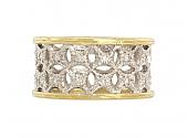 Sabbadini Diamond Band Ring in Platinum and 18K