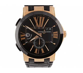 Ulysse Nardin Executive Dual Time Watch in 18K Rose Gold