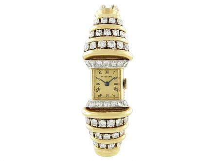 Van Cleef & Arpels Retro Diamond Watch in 18K