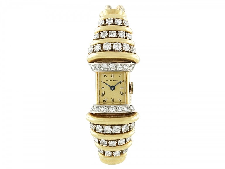 Video of Van Cleef & Arpels Retro Diamond Watch in 18K