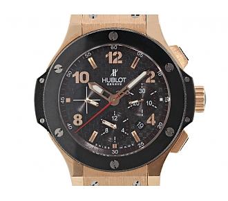 Men's Hublot Big Bang Carbon Chronograph Automatic Watch in 18K