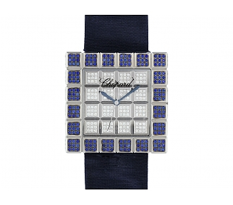 Chopard Diamond and Sapphire 'Ice Cube' Watch in 18K