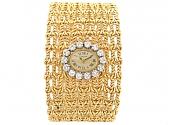 Vintage Corum Ladies Diamonds Watch in 18K Gold