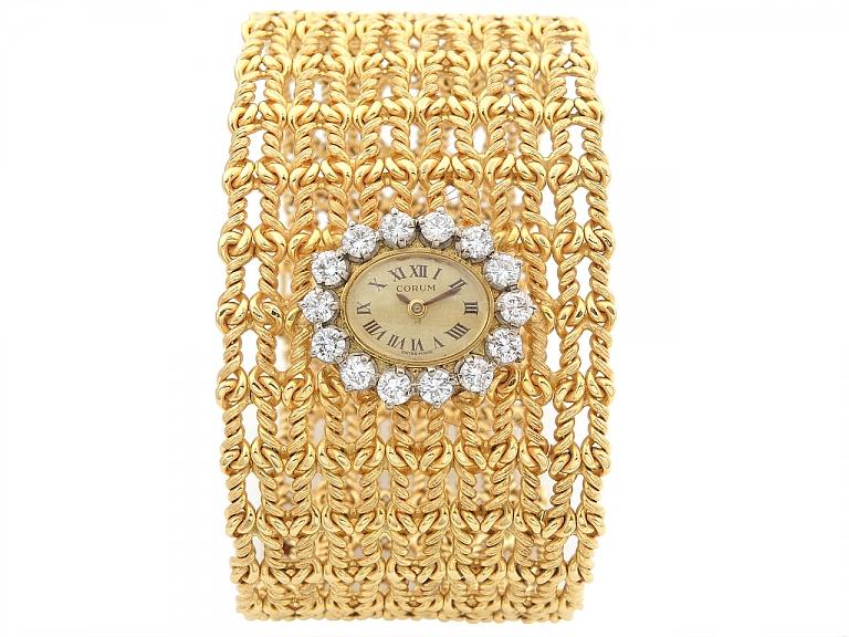 Video of Vintage Corum Ladies Diamonds Watch in 18K Gold