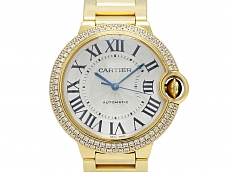 Cartier 'Ballon Bleu' Diamond Watch in 18K Gold, 36 mm
