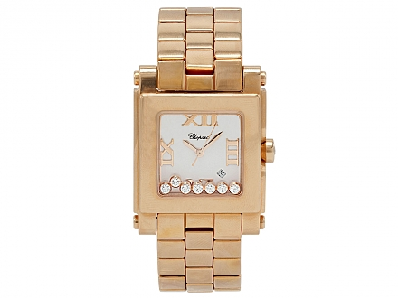 Chopard 'Happy Sport' Watch in 18K Rose Gold, 30mm