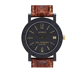 Bulgari 'San Francisco' Watch in Carbon