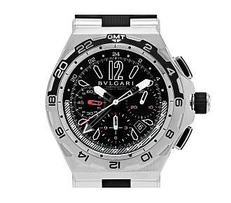 Bulgari 'Diagono' X Pro GMT Chronograph Watch in Steel