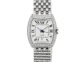Bedat & Co. 'No. 3' Watch with Diamonds, Stainless Steel