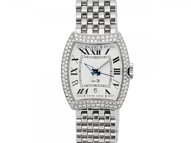 Video of Bedat & Co. 'No. 3' Watch with Diamonds, Stainless Steel