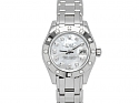 Rolex Lady-Datejust 'Pearlmaster' with Mother-of-Pearl Dial in 18K White Gold, 29 mm