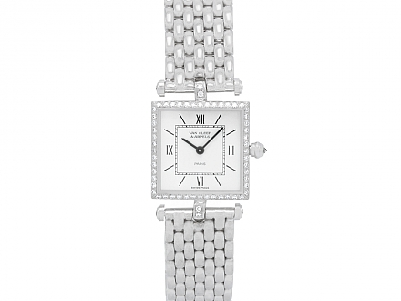 Van Cleef and Arpels 'Classique' Diamond Lady's Watch in 18K