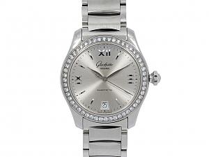 Glashutte Lady 'Serenade' Diamond Watch in Stainless Steel, 36 mm