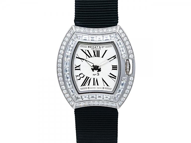 Video of Bedat No. 3 Diamond Watch in 18K White Gold