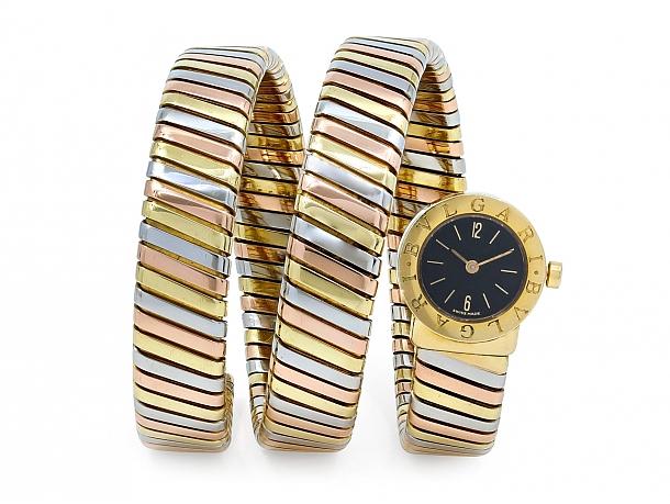 Bulgari 'Serpenti' Watch in 18K Gold