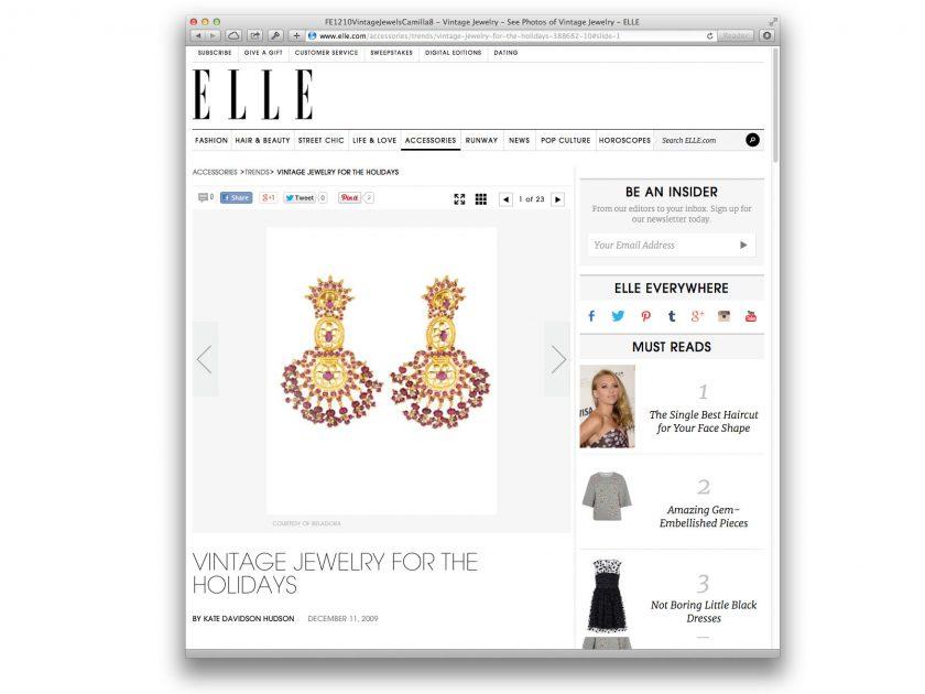 Elle Magazine Online — December 2009