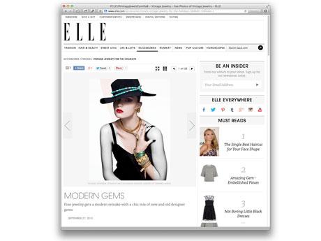 Elle Magazine Online — October 2010