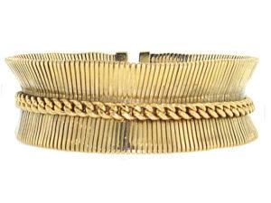 Retro Forstner Bracelet in 14K Yellow Gold