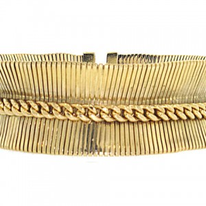 Retro Forstner Bracelet in 14K Yellow Gold