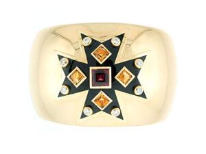 Verdura Maltese Cross Cuff Bracelet in 18K Yellow Gold