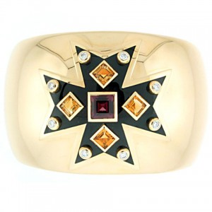 Verdura Maltese Cross Cuff Bracelet in 18K Yellow Gold
