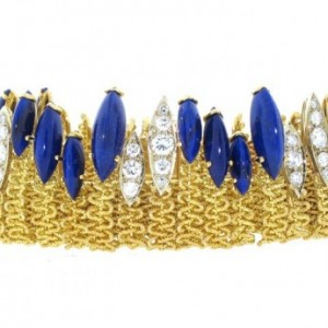 Cartier Lapis and Diamond Bracelet