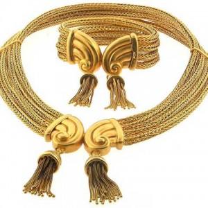 Zolotas Tassel Necklace and Bracelet Set