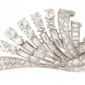 Mid-Century Chaumet Diamond Brooch
