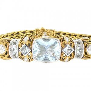 John Hardy Aquamarine Bracelet in 18K