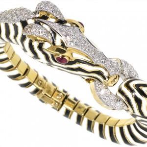 David Webb Zebra Bracelet in 18K