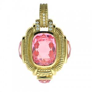 Judith Ripka Pink Quartz Pendant