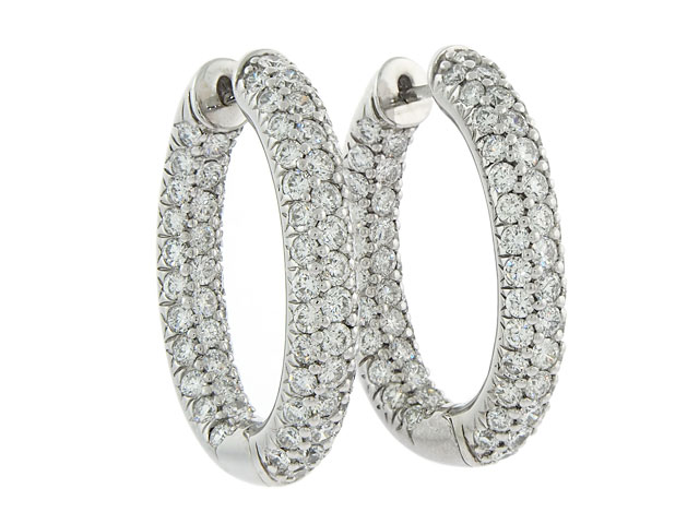 The Look For Less – Diamond Hoop Earrings