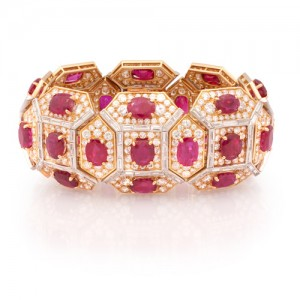 Important Burma Ruby and Diamond Bracelet by Bvlgari