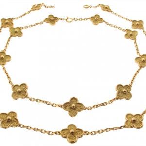 Van Cleef and Arpels 20 Motif Alhambra Necklace